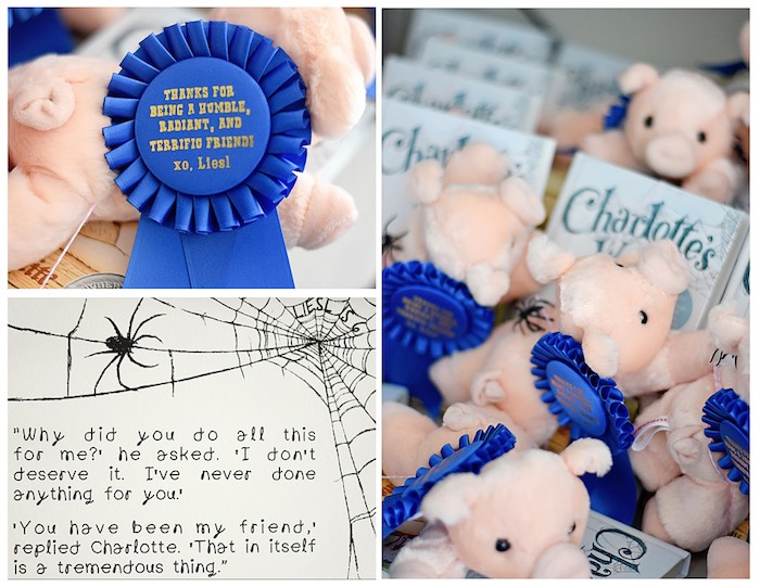 Award-Winning, Storybook Pig Favors from a Charlotte's Web Inspired Birthday Party via Kara's Party Ideas | KarasPartyIdeas.com - The Place for All Things Party! (26)