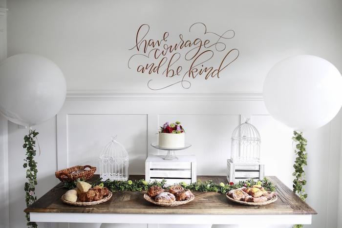Dessert Table from a Chic Cinderella Themed Birthday Party via Kara's Party Ideas - KarasPartyIdeas.com (15)