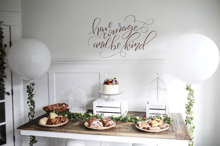 Sweet Table from a Chic Cinderella Themed Birthday Party via Kara's Party Ideas - KarasPartyIdeas.com (14)