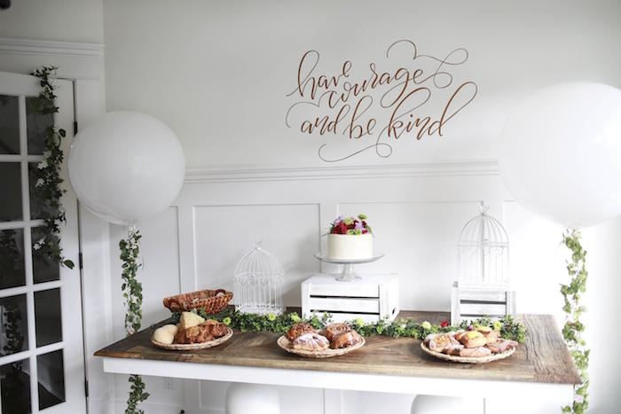 Cake Table from a Chic Cinderella Themed Birthday Party via Kara's Party Ideas - KarasPartyIdeas.com (13)