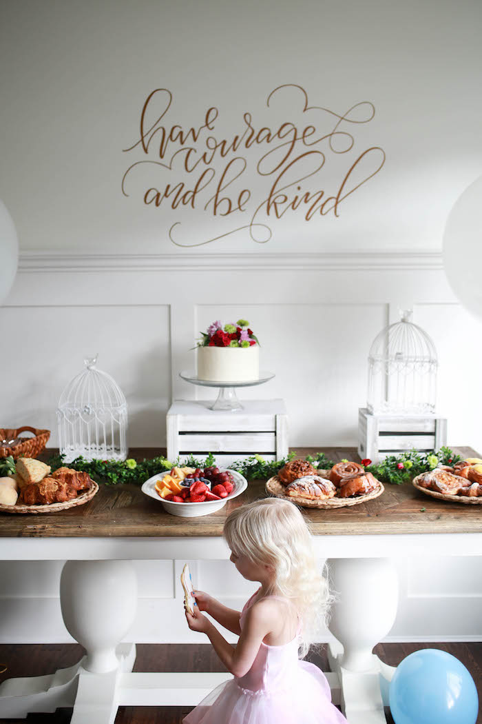Dessert Table from a Chic Cinderella Themed Birthday Party via Kara's Party Ideas - KarasPartyIdeas.com (4)