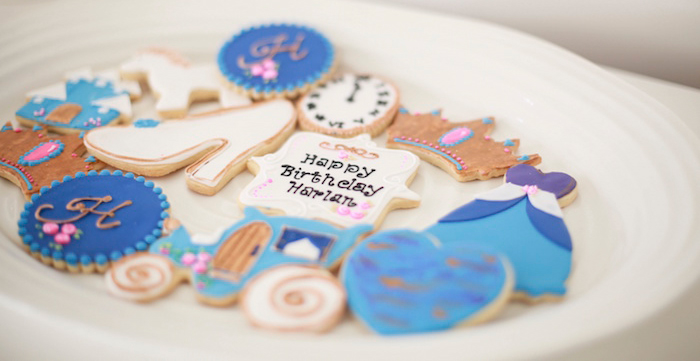 Cinderella-inspired Sugar Cookies from a Cookies from a Chic Cinderella Themed Birthday Party via Kara's Party Ideas - KarasPartyIdeas.com (2)