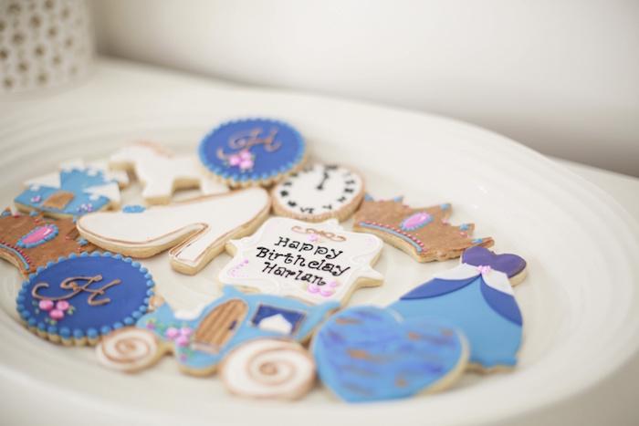 Cinderella-inspired Cookies from a Chic Cinderella Themed Birthday Party via Kara's Party Ideas - KarasPartyIdeas.com (22)