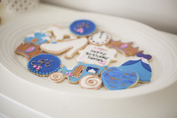 Cinderella-inspired Cookies from a Chic Cinderella Themed Birthday Party via Kara's Party Ideas - KarasPartyIdeas.com (21)
