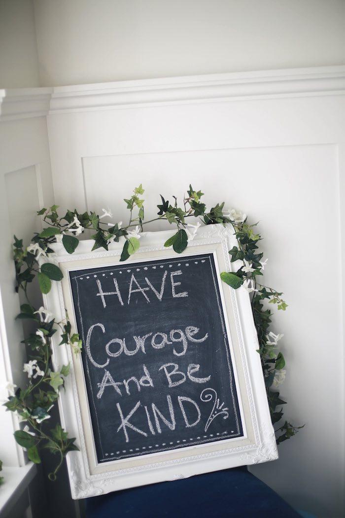 Chalkboard Sign from a Chic Cinderella Themed Birthday Party via Kara's Party Ideas - KarasPartyIdeas.com (18)