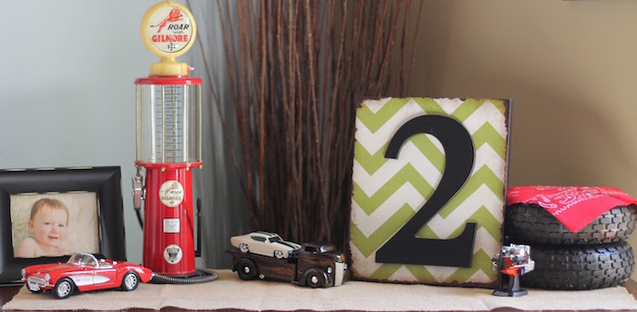 Decor from a Classic Car Garage Birthday Party via Kara's Party Ideas | KarasPartyIdeas.com (11)