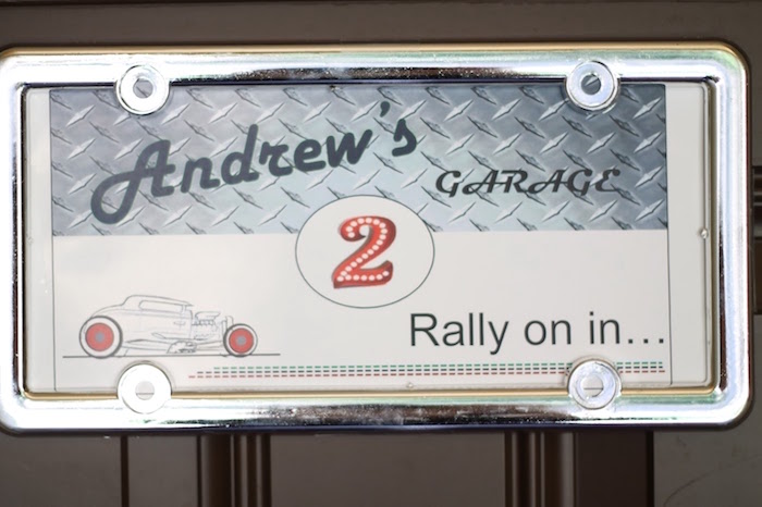 License Plate Sign from a Classic Car Garage Birthday Party via Kara's Party Ideas | KarasPartyIdeas.com (6)