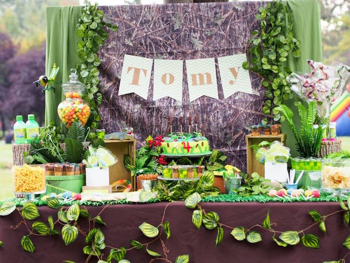Sweet Table Details from a Crocodiles & Insects Birthday Party via Kara's Party Ideas - KarasPartyIdeas.com (3)