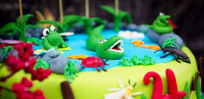 Cake Detail from a Crocodiles & Insects Birthday Party via Kara's Party Ideas - KarasPartyIdeas.com (1)