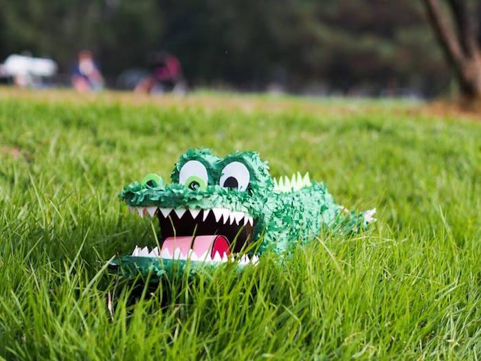 Crocodile Piñata from a Crocodiles & Insects Birthday Party via Kara's Party Ideas - KarasPartyIdeas.com (10)