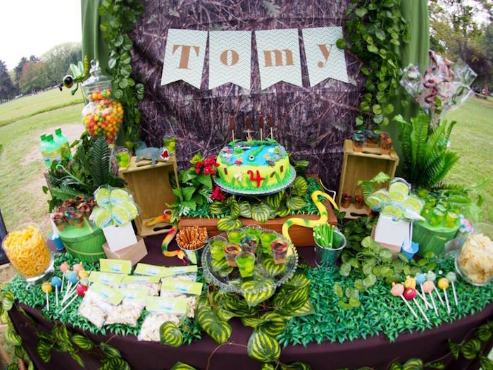 Sweet Table Details from a Crocodiles & Insects Birthday Party via Kara's Party Ideas - KarasPartyIdeas.com (9)