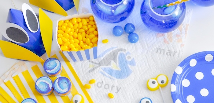DIY Finding Dory Themed Birthday Party by Kara Allen | Kara's Party Ideas | KarasPartyIdeas.com for Bounty-30