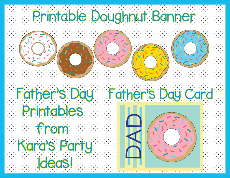 Dad's-and-Doughnuts-Printables from Kara's Party Ideas via karaspartyideas.com Father's Day Roundup