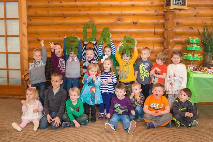 Party Goers from a Dinosaur Birthday Party via Kara's Party Ideas | KarasPartyIdeas.com | The Place for All Things Party! (10)
