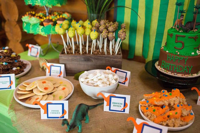 Karas Party Ideas Dinosaur 5th Birthday Party