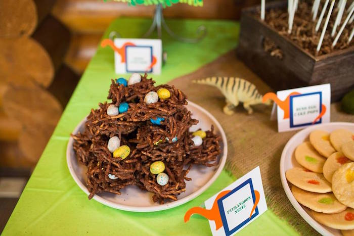 Dinosaur Nest Treats from a Dinosaur 5th Birthday Party via Kara's Party Ideas | KarasPartyIdeas.com | The Place for All Things Party! (6)
