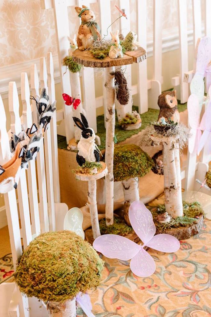 Decor from an Enchanted Woodland Forest Birthday Party via Kara's Party Ideas | KarasPartyIdeas.com - The Place for All Things Party! (21)