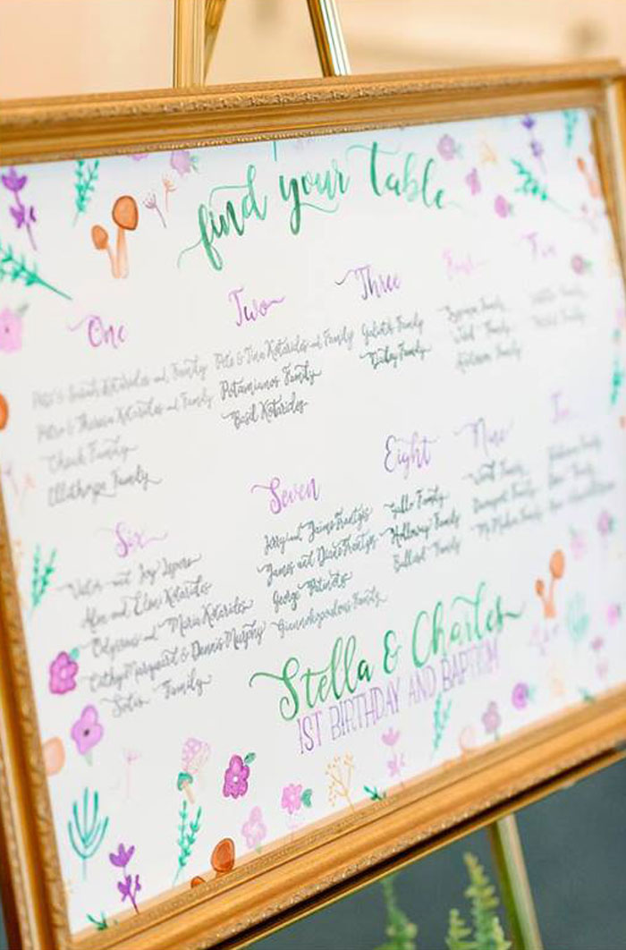Seating Chart Board from an Enchanted Woodland Forest Birthday Party via Kara's Party Ideas | KarasPartyIdeas.com - The Place for All Things Party! (20)