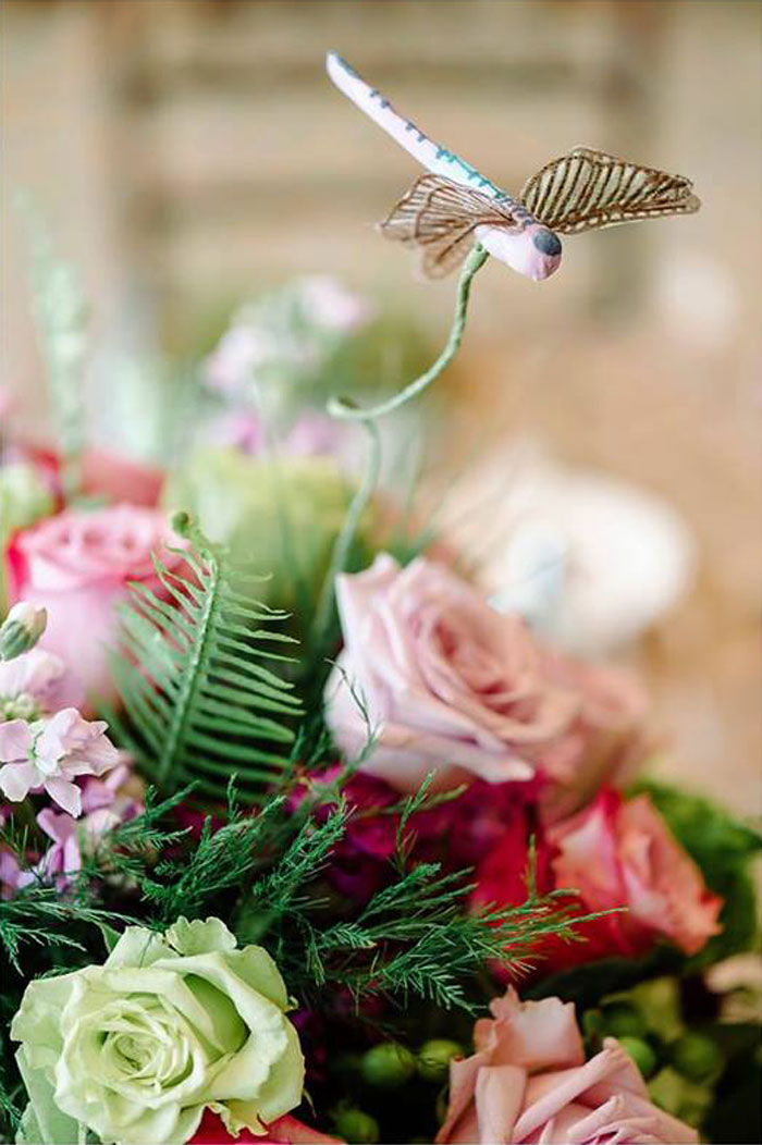Floral Arrangement Detail from an Enchanted Woodland Forest Birthday Party via Kara's Party Ideas | KarasPartyIdeas.com - The Place for All Things Party! (35)