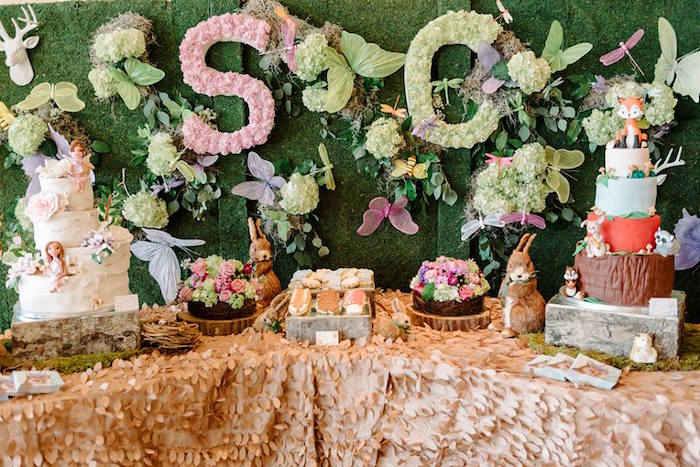 Kara S Party Ideas Enchanted Woodland Forest Birthday