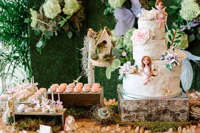 Sweet Table Details from an Enchanted Woodland Forest Birthday Party via Kara's Party Ideas | KarasPartyIdeas.com - The Place for All Things Party! (34)