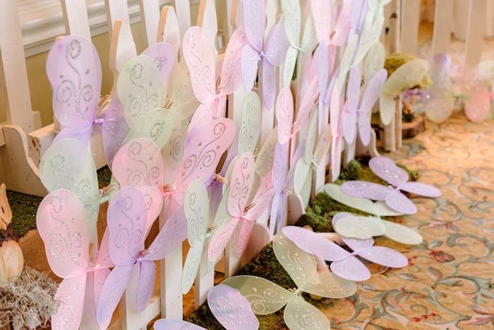 Fairy Wing Favors from an Enchanted Woodland Forest Birthday Party via Kara's Party Ideas | KarasPartyIdeas.com - The Place for All Things Party! (5)