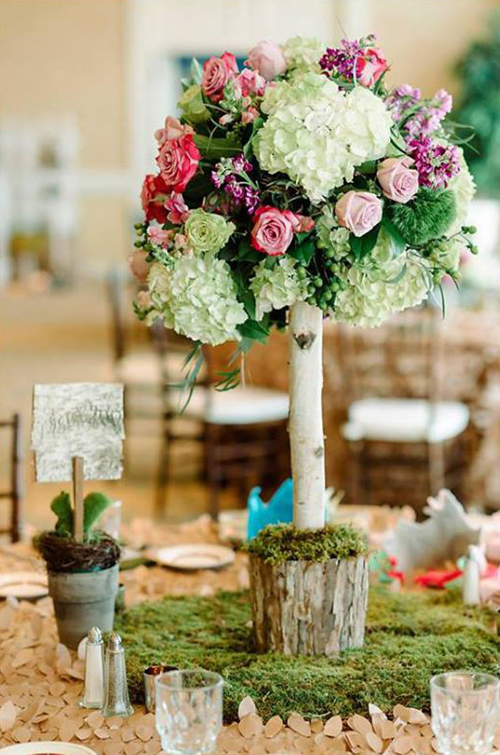 Guest Table Centerpiece from an Enchanted Woodland Forest Birthday Party via Kara's Party Ideas | KarasPartyIdeas.com - The Place for All Things Party! (29)