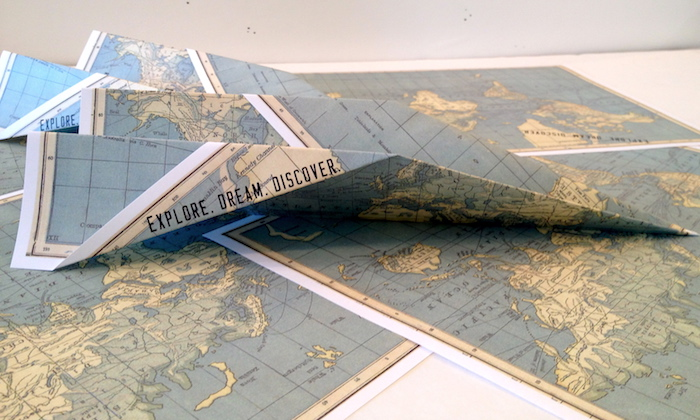 Paper Airplane Invitation From An Explore Your World Travel Birthday Party Via Karas