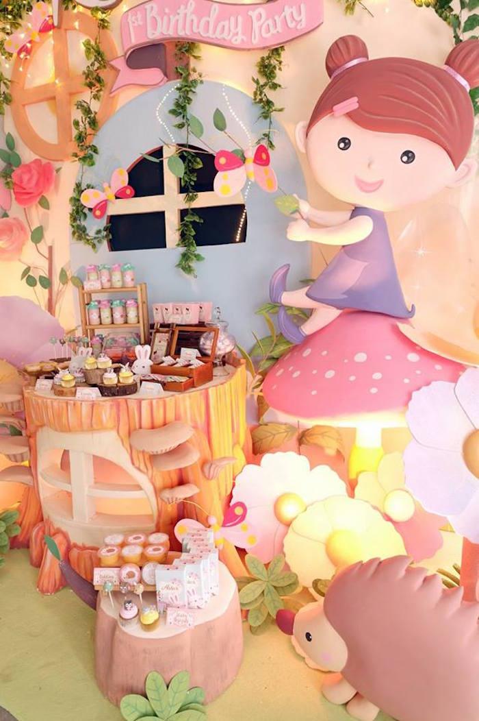 Sweet Display from a Fairy Garden Birthday Party via Kara's Party Ideas KarasPartyIdeas.com (12)