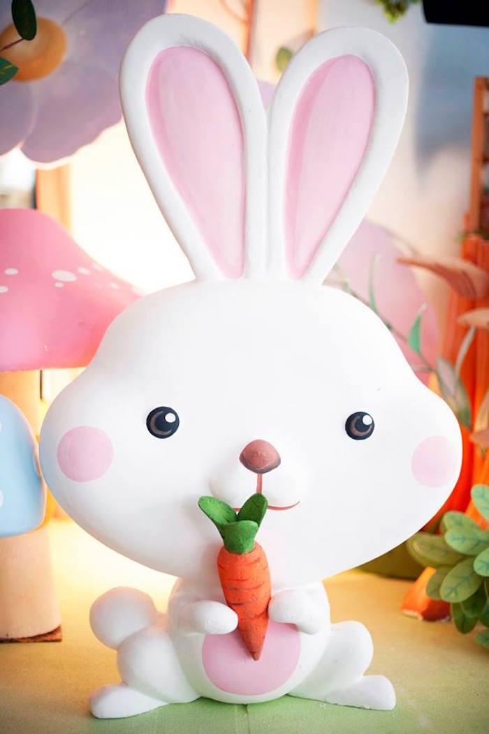 Bunny Rabbit Prop from a Fairy Garden Birthday Party via Kara's Party Ideas KarasPartyIdeas.com (11)