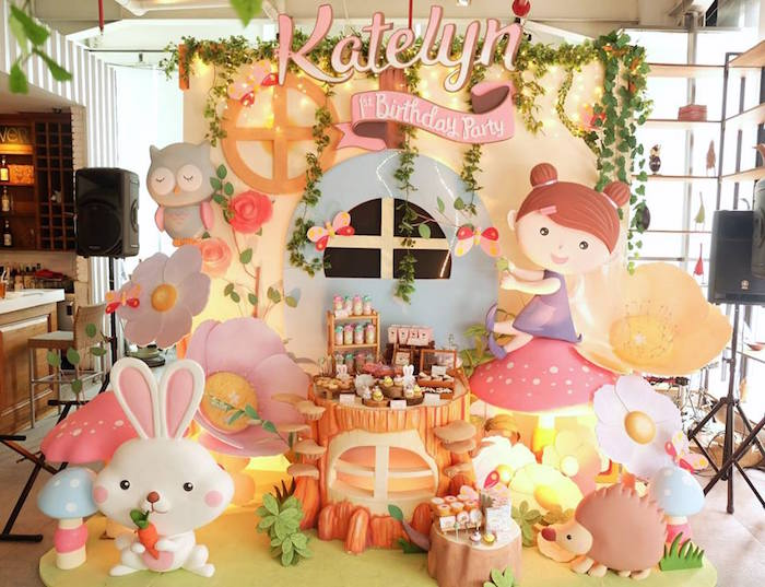 Dessert Table from a Fairy Garden Birthday Party via Kara's Party Ideas KarasPartyIdeas.com (9)