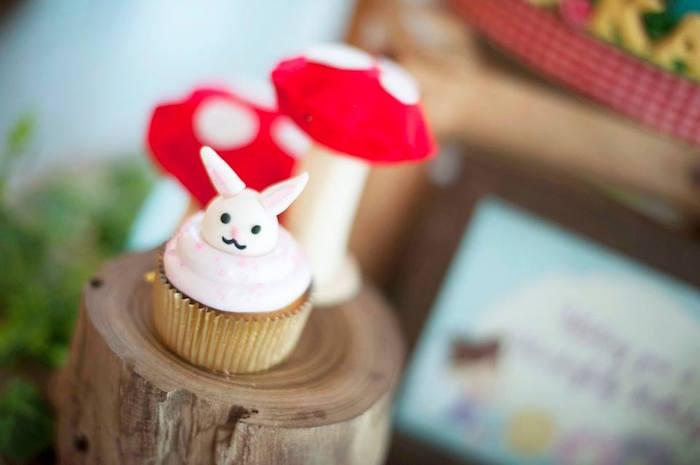 Mini Cupcake from a Fairy Garden Birthday Party via Kara's Party Ideas KarasPartyIdeas.com (4)