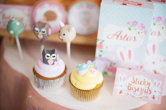 Cupcakes & Cake Pops from a Fairy Garden Birthday Party via Kara's Party Ideas KarasPartyIdeas.com (21)