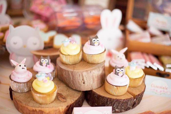 Cupcakes from a Fairy Garden Birthday Party via Kara's Party Ideas KarasPartyIdeas.com (19)