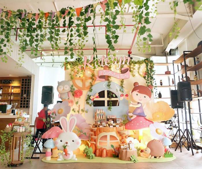 Kara S Party Ideas Garden Fairy 1st Birthday Party Kara S Party Ideas