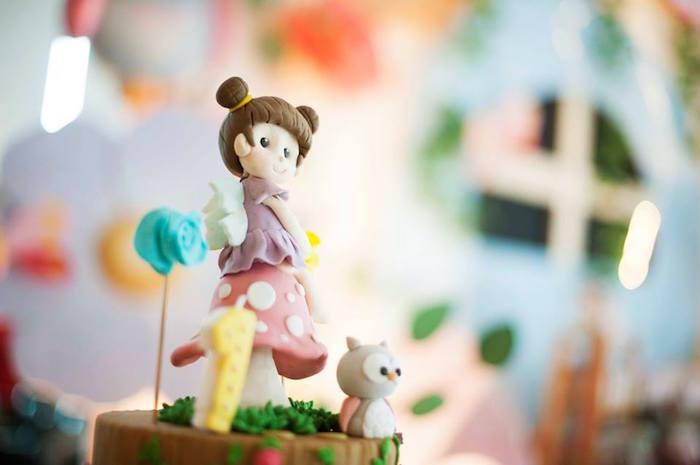 Fairy Cake Topper from a Fairy Garden Birthday Party via Kara's Party Ideas KarasPartyIdeas.com (16)