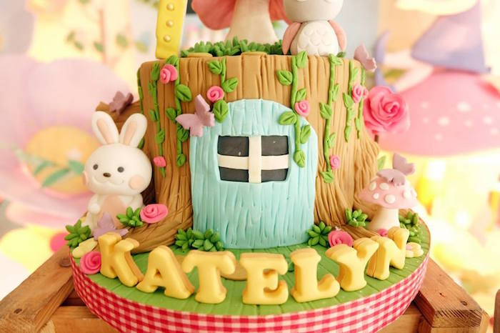 Cake Detail from a Fairy Garden Birthday Party via Kara's Party Ideas KarasPartyIdeas.com (15)