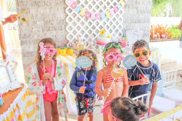 Photo Op from a Flamingo pineapple themed birthday party via Kara's Party Ideas | KarasPartyIdeas.com (20)