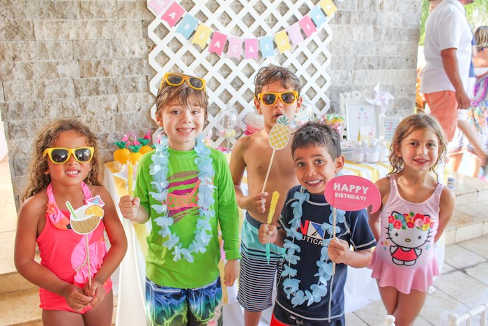 Party Prop Photo Op from a Flamingo pineapple themed birthday party via Kara's Party Ideas | KarasPartyIdeas.com (19)