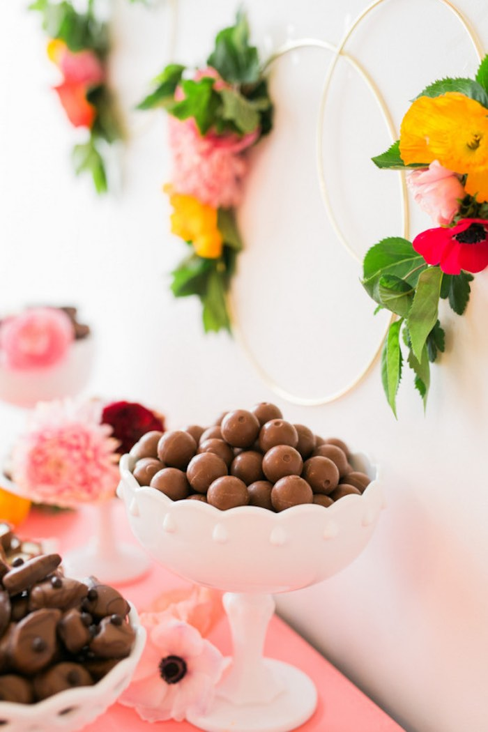 Lindor Chocolate Truffles from a Flower Crown Crafting Party via Kara's Party Ideas | KarasPartyIdeas.com (45)