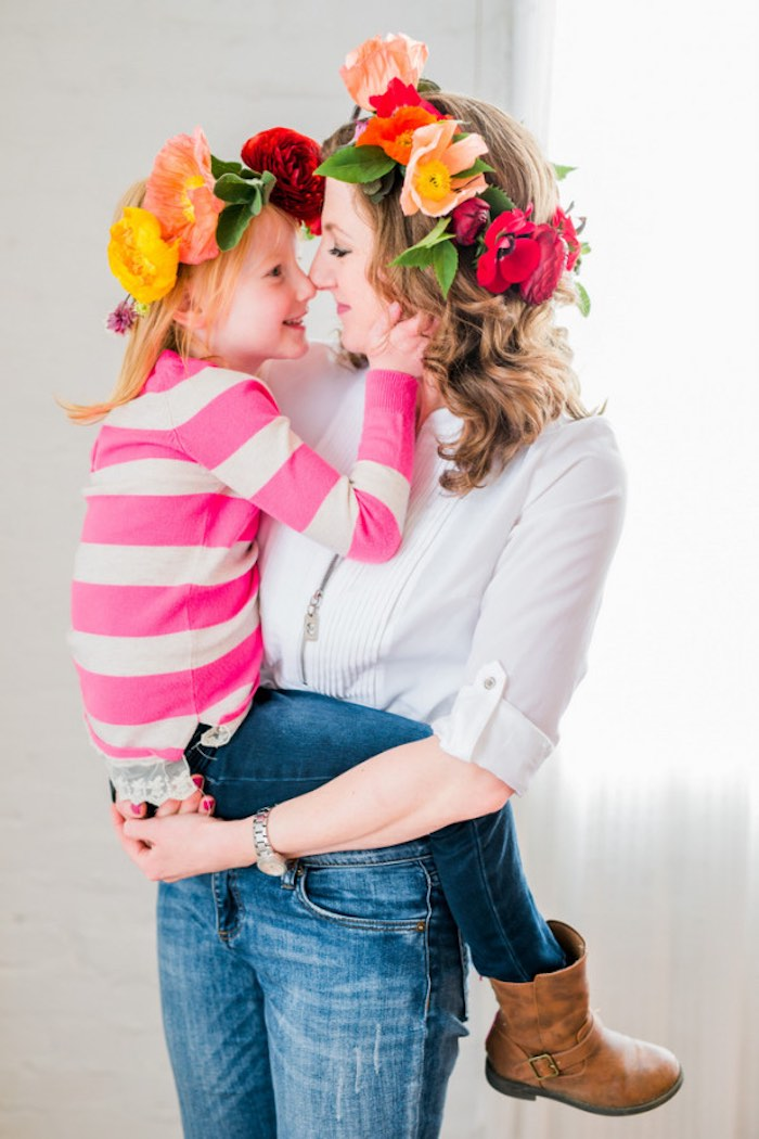 Photo Op from a Flower Crown Crafting Party via Kara's Party Ideas | KarasPartyIdeas.com (15)