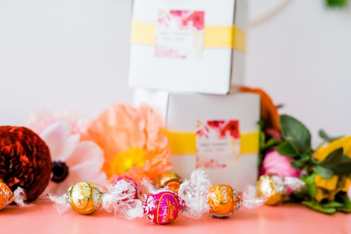 Lindor Truffle Favors from a Flower Crown Crafting Party via Kara's Party Ideas | KarasPartyIdeas.com (7)