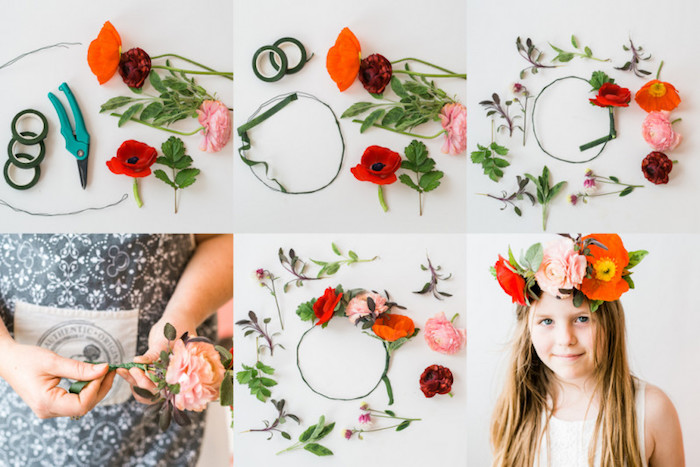 Flower Crown Photo Tutorial from a Flower Crown Crafting Party via Kara's Party Ideas | KarasPartyIdeas.com (1)