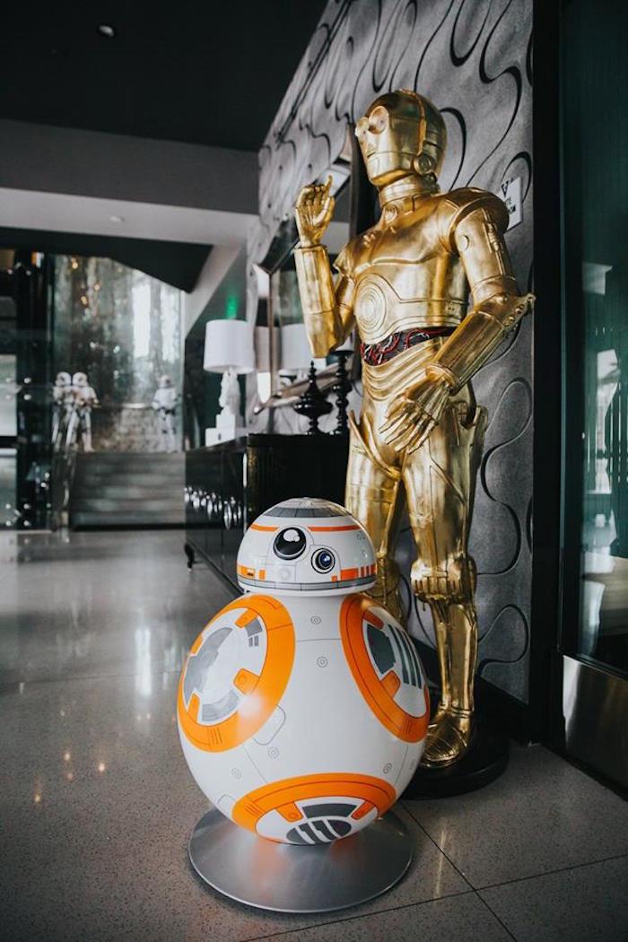 BB-8 Droid & C-3PO from a Galactic Star Wars Themed Birthday Party via Kara's Party Ideas | KarasPartyIdeas.com (25)