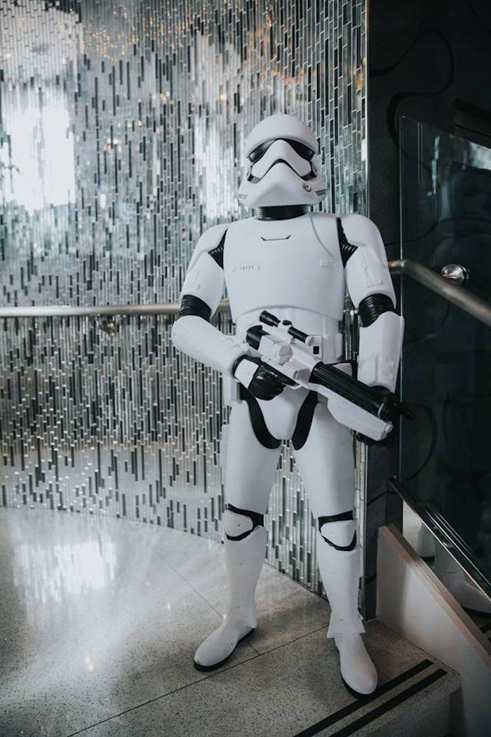Storm Trooper from a Galactic Star Wars Themed Birthday Party via Kara's Party Ideas   KarasPartyIdeas.com (22)