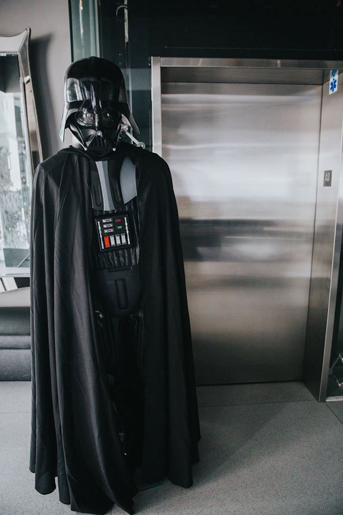 Darth Vader Character Prop from a Galactic Star Wars Themed Birthday Party via Kara's Party Ideas | KarasPartyIdeas.com (20)