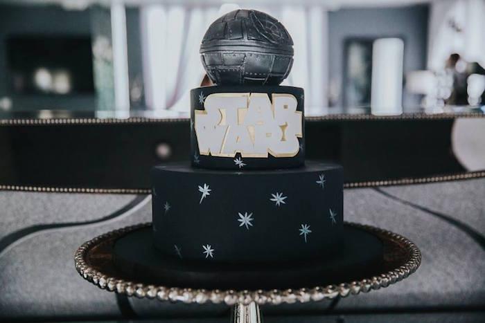 Cake from a Galactic Star Wars Themed Birthday Party via Kara's Party Ideas   KarasPartyIdeas.com (19)