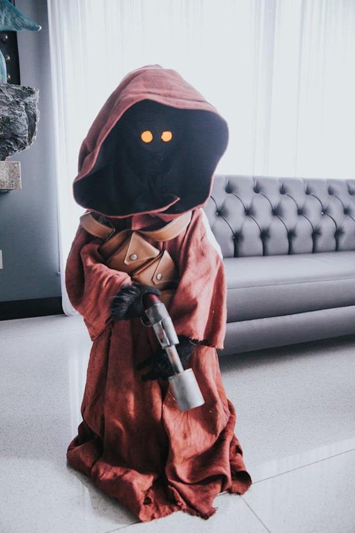 Jawa Character Prop from a Galactic Star Wars Themed Birthday Party via Kara's Party Ideas | KarasPartyIdeas.com (37)