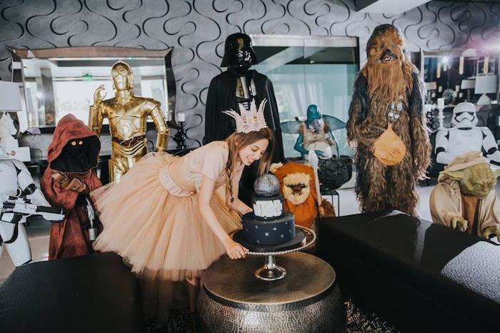 Cake + Characters from a Galactic Star Wars Themed Birthday Party via Kara's Party Ideas   KarasPartyIdeas.com (17)