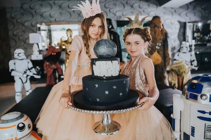 Birthday Princesses from a Galactic Star Wars Themed Birthday Party via Kara's Party Ideas   KarasPartyIdeas.com (10)